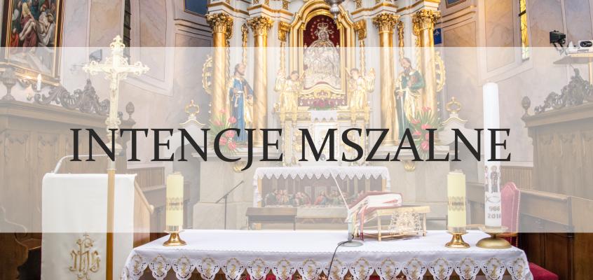 Intencje Mszy św.: 29.10. – 04.11.2018