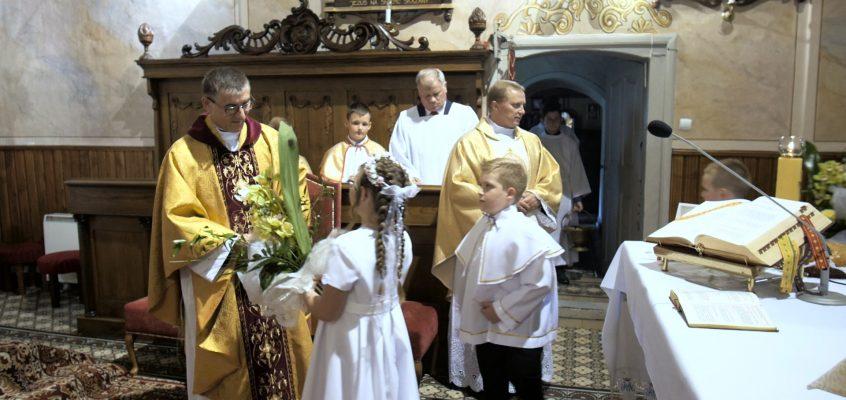 Pierwsza Komunia Święta w naszej parafii.